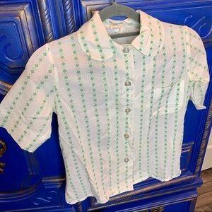 Vintage Girl Scouts Uniform S/S Top Shirt Size 10